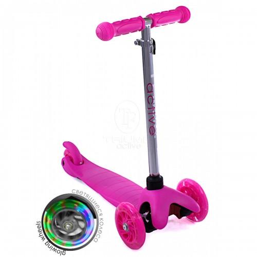 Самокат детский Triumf Active SKL-06AH Mini Up Flash Розовый