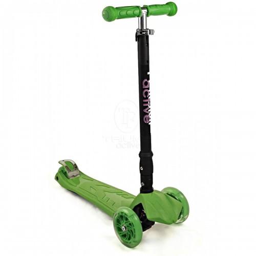 Самокат детский Triumf Active SKL-07CL со складывающейся ручкой Maxi Flash Plus Зеленый