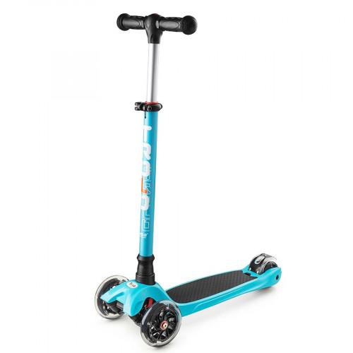 Самокат TROLO MAXI (2017) голубой/черный со светящимися колесами