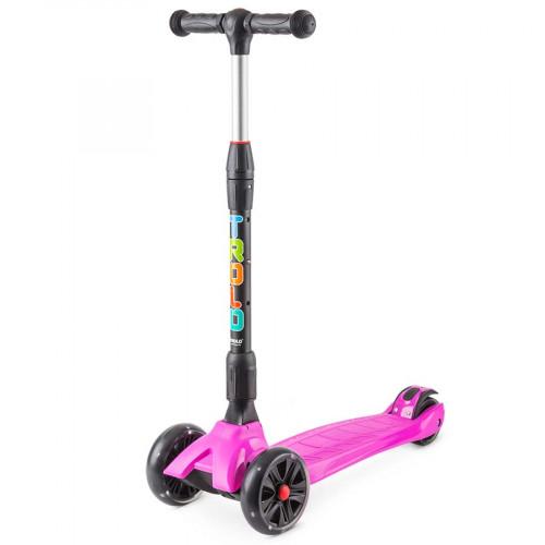Самокат TROLO Rapid розовый со светящимися колесами