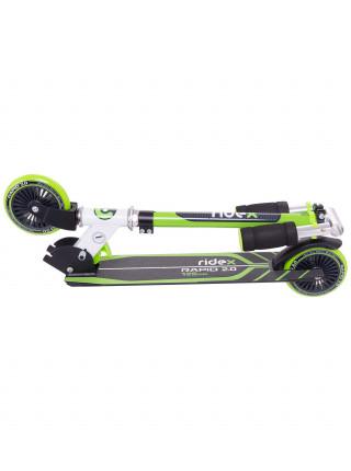 Самокат Ridex Rapid 2.0, 125 мм, зеленый