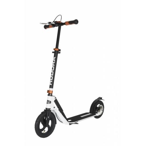 Самокат HUDORA Big Wheel AIR 230 Dual Brake черный/белый