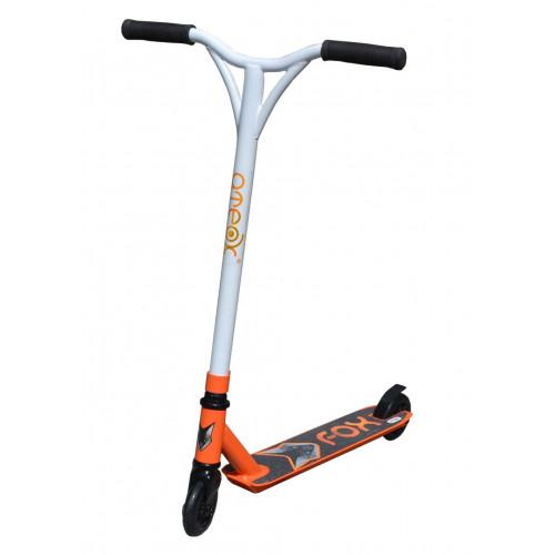 Самокат трюковой ATEOX FOX 2020 белый/оранжевый