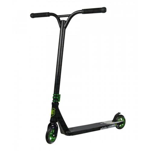Самокат трюковой Lucky Strata Scooter черный/зеленый