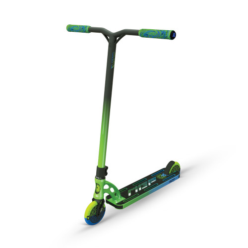 Самокат трюковой MGP (Madd Gear) VX9 TEAM SCOOTER (4.8 x 20 Inch) Ethanol, зелено-голубой