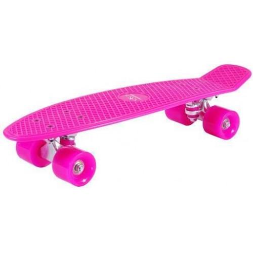Скейтборд Hudora Skateboard Retro pink