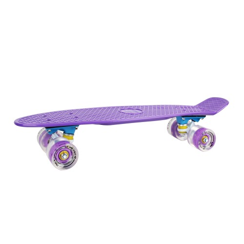 Мини-круизер PNB-01GW (22) Violet светящиеся колеса