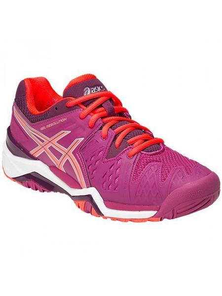 Кроссовки теннисные Asics Gel-Resolution 6 SS15 (женские), розовый