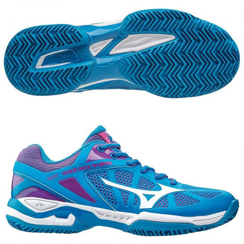 Кроссовки теннисные Mizuno Wave Exceed Tour cc (женские), голубой