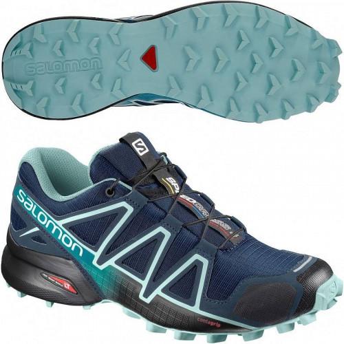 Кроссовки беговые Salomon Speedcross 4 (женские), темно-синий