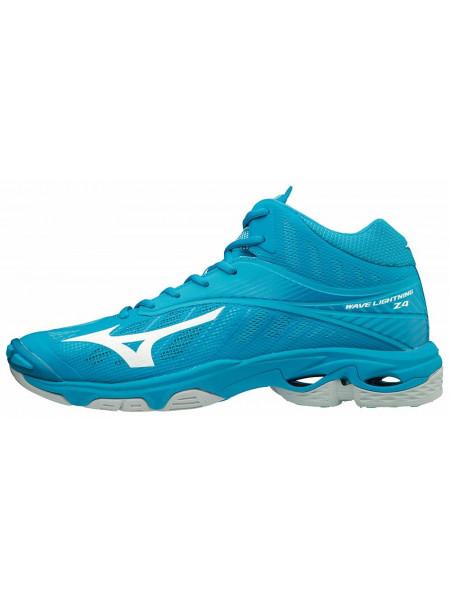 Кроссовки волейбольные Mizuno Wave Lightning Z4 Mid, голубой