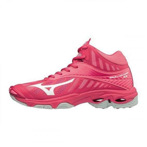 Кроссовки волейбольные Mizuno Wave Lightning Z4 Mid (женские), розовый