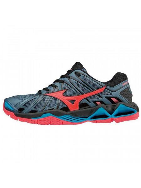 Кроссовки волейбольные Mizuno Wave Tornado X2 (женские), темно-синий