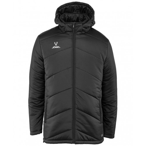 Куртка утеплённая детская Jögel JPJ-4500-061, полиэстер, черный/белый