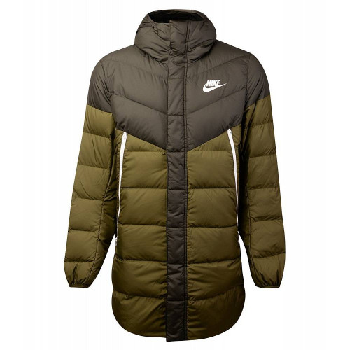 Пуховик Nike Sportswear Down Fill Windruner Parka HD RUS, оливковый