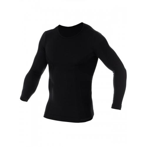 Футболка мужская с длинным рукавов Brubeck Comfort Wool черный