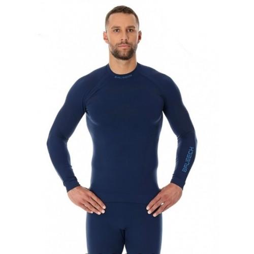 Футболка мужская длинный рукав Brubeck Thermo Nilit Heat синий