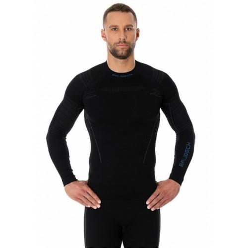 Футболка мужская длинный рукав Brubeck Thermo Nilit Heat черный