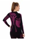 Футболка женская длинный рукав Brubeck DRY черно-фиолетовый