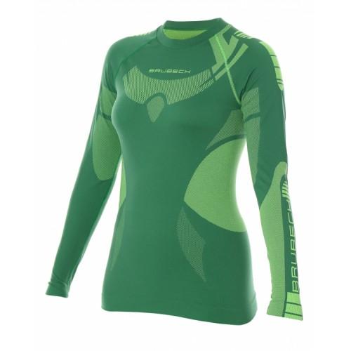 Футболка женская длинный рукав Brubeck DRY зеленый
