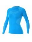 Футболка женская длинный рукав Brubeck DRY голубой