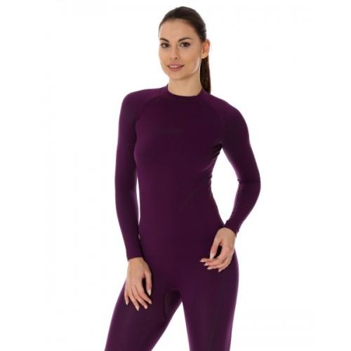 Футболка женская длинный рукав Brubeck Thermo Nilit Heat фиолетовый
