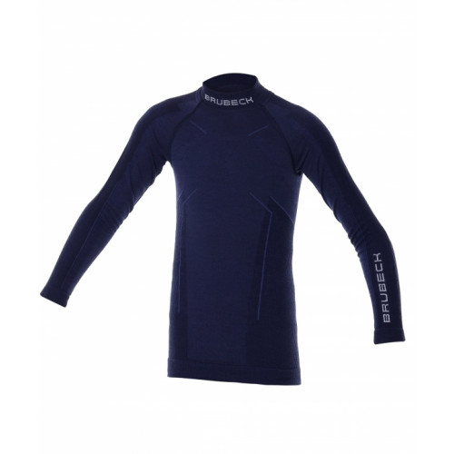 Блуза на мальчика Brubeck Active Wool синий