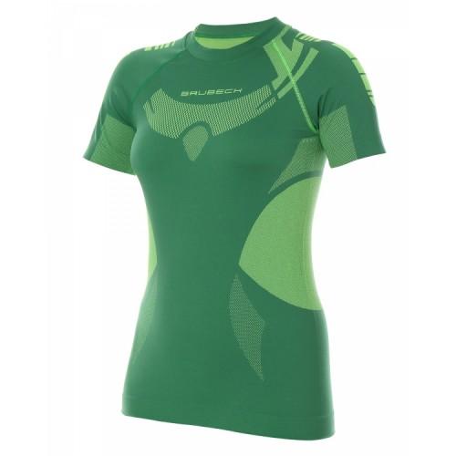 Футболка женская короткий рукав Brubeck DRY зеленый