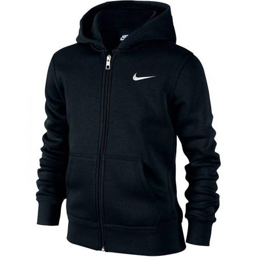 Толстовка Nike 76 Brushed Fleece Full-zip Hoody (детская), черный