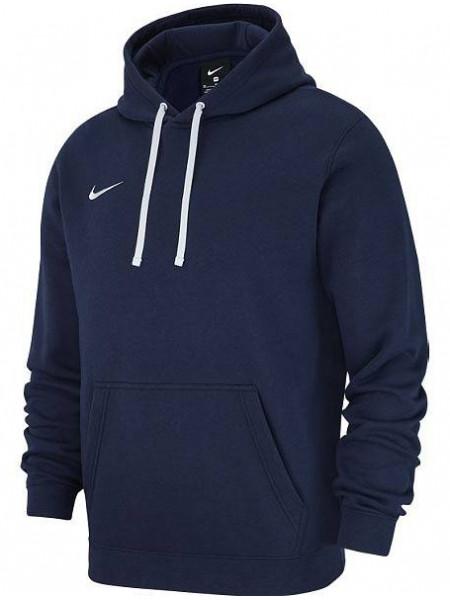 Толстовка Nike Team Club 19 PO Fleece Hoodie (детская), темно-синий