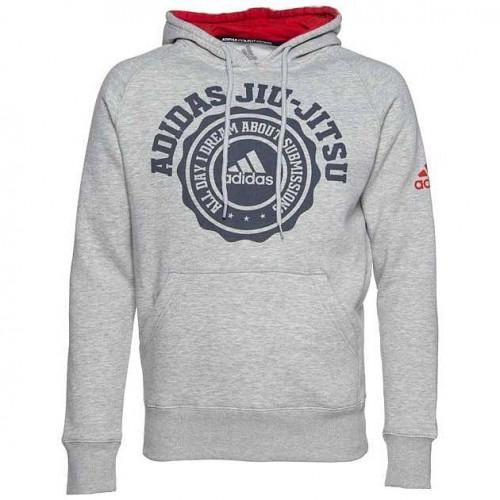 Толстовка Adidas Leisure Hoody Jiu-Jitsu, серый