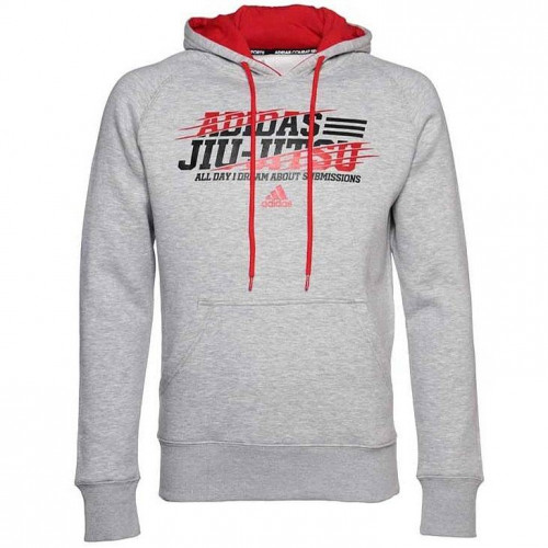 Толстовка Adidas Leisure All Day Hoody Jiu-Jitsu, серый