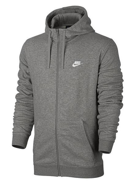 Толстовка Nike Full Zip Sportswear Hoodie, серый