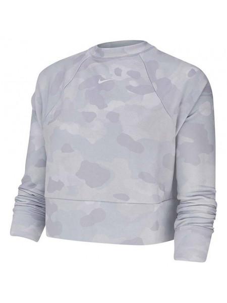 Толстовка Nike Dri-FIT Fleece Camo Training Top (женская), серый