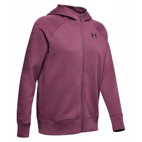 Толстовка Under Armour Rival Fleece Sportstyle Lc Sleeve Graphic (женская), бордовый