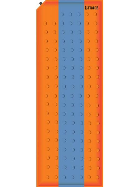 Ковер самонадувающийся Basic 2,5 180х50х2,5 см BTrace M0201 оранжевый/серый