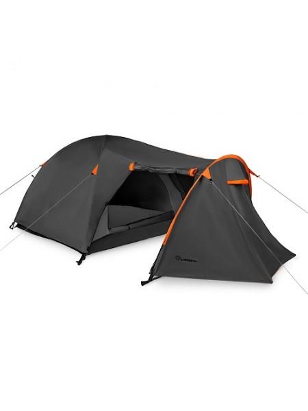 Палатка 3-х местная Larsen Nevada PLUS серый/оранжевый N/S