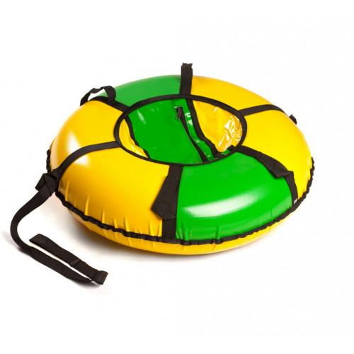 Тюбинг Вихрь d-100 см зелено-желтый