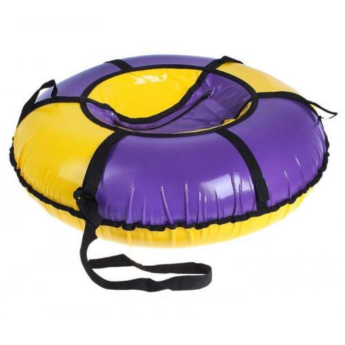 Тюбинг Вихрь d-90 см фиолетово-желтый