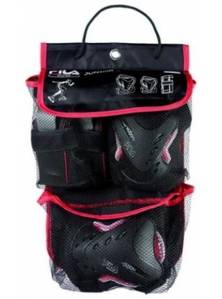 Защита на локти, колени, кисти FILA FP Junior Boy Gear черный/красный