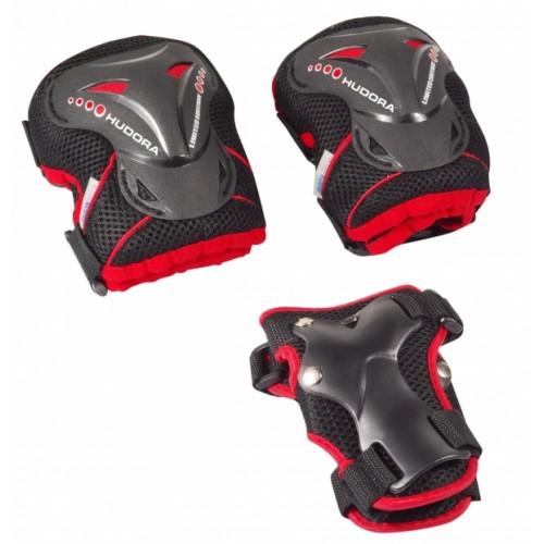 Комплект защиты HUDORA Grant черно-красный