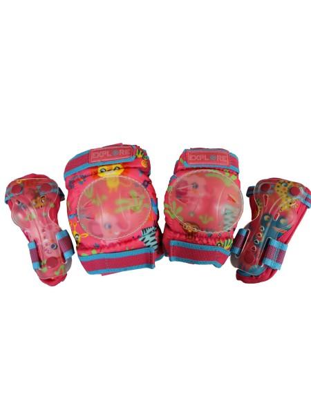 Налокотники и наколенники EXPLORE AMZ-300 розовый для девочек