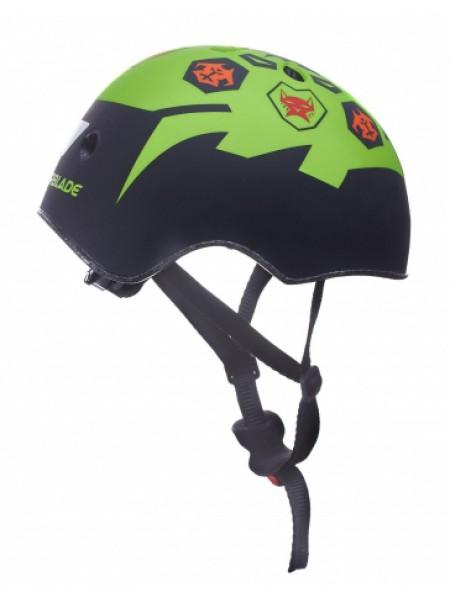 Шлем защитный Fila Junior G Helmet черный/зеленый