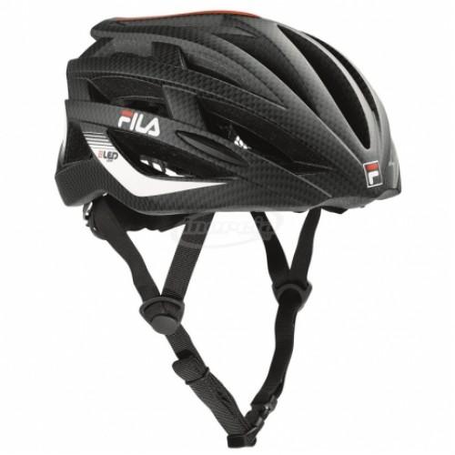 Шлем защитный Fila Led Helmet черный/красный