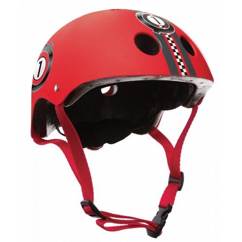 Защитный шлем GLOBBER PRINTED JUNIOR красный