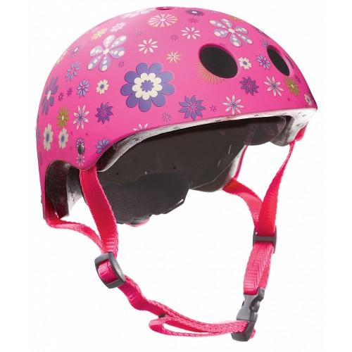 Защитный шлем GLOBBER PRINTED JUNIOR розовый