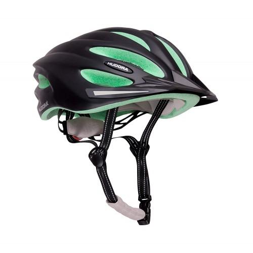 Защитный шлем Hudora черно-зеленый