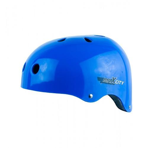 Шлем MaxCity Roller синий