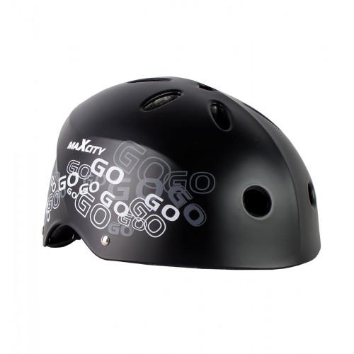 Шлем MaxCity Roller Logo черный