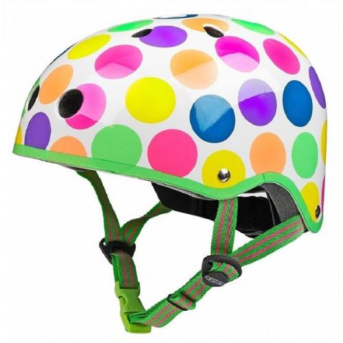 Защитный шлем Micro неоновый горох